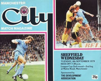 sheff weds league cup home 1979 to 80 prog