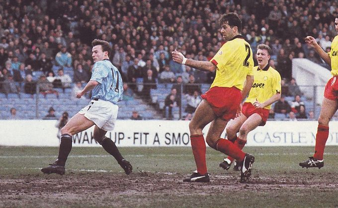 sheffield united home 1990 to 91 ward goal