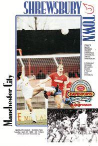shrewsbury away 1988 to 88 prog
