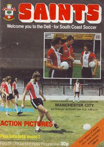 southampton away 1980 to 81 prog