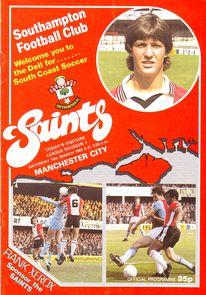 southampton away 1982 to 83 prog
