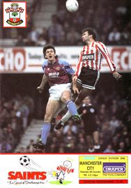southampton away 1990 to 91 prog