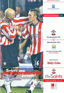 southampton away 2002 to 03 prog