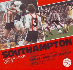 southampton away league cup 1978 to 79 prog