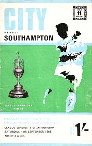 southampton home 1968 to 69 prog