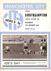 southampton home 1970-71 programme