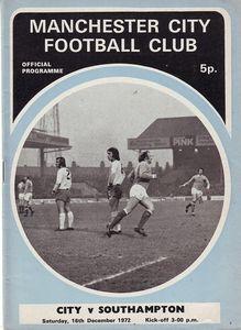 southampton home 1972-73 programme
