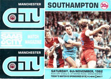 southampton home 1982 to 83 prog
