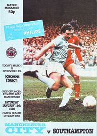 southampton home 1985 to 86 prog