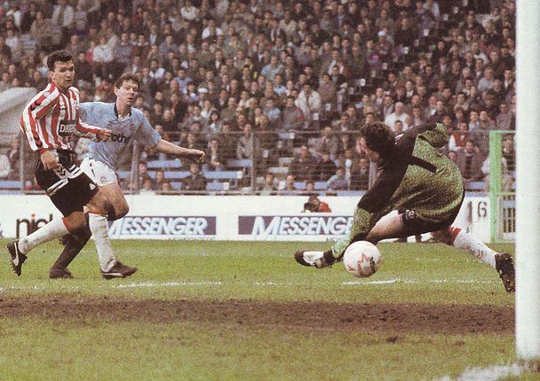 southampton home 1990 to 91 allen goal