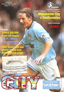 southampton home 1994 to 95 prog