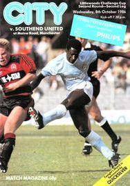 southend home league cup 1986 to 87 prog1