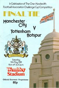 spurs fa cup final 1980 to 81 prog