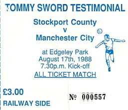 stockport away 1988 to 89 ticket
