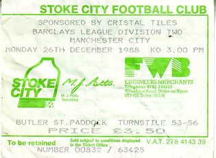 stoke away 1988 to 89 ticket