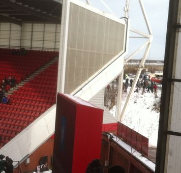 stoke fa cup 2012 to 13 snow stand