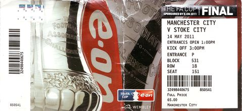 stoke fa cup final 2010 to 11 ticket