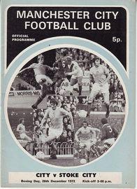 stoke home 1972-73 programme