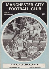 stoke home fa cup 1972 to 73 prog