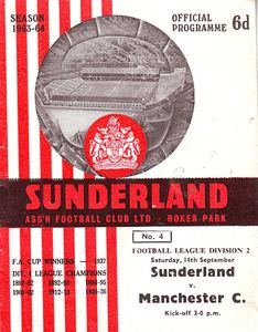 sunderland away 1963 to 64 prog
