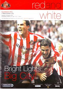 sunderland away 2005 to 06 prog