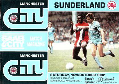 sunderland home 1982 to 83 prog