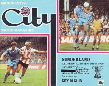 sunderland home league cup 1979 to 80 prog