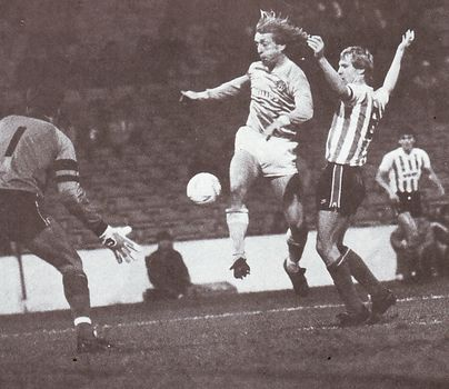 sunderland members cup 1985 to 86 action
