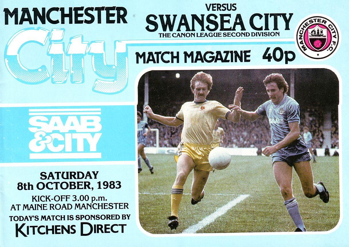 swansea home 1983 to 84 prog