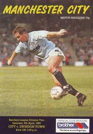 swindon home 1988 to 89 prog