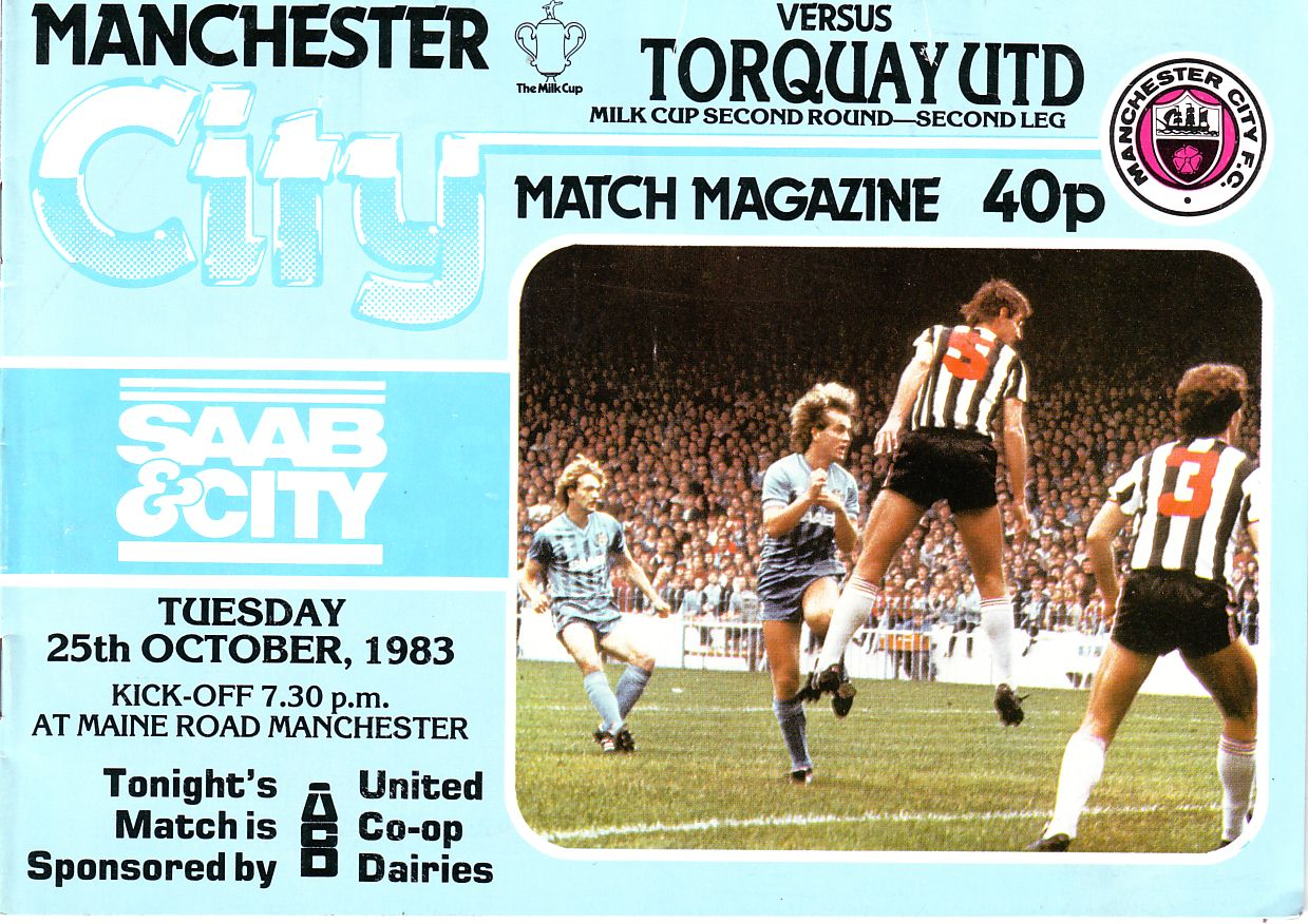 torquay home 1983 to 84 prog
