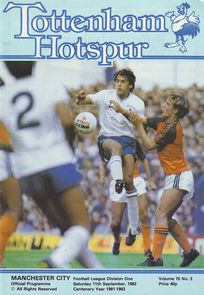 tottenham away 1982 to 83 prog