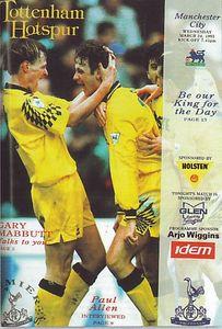 tottenham away 1992 to 93 prog