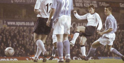 tottenham away carling cup 2003 to 04 anderton goal