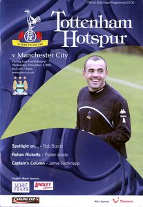 tottenham away carling cup 2003 to 04 prog