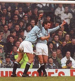 tottenham fa cup home 1992 to 93 sheron goal