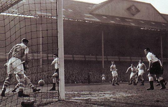 tottenham fa cup semi 1955 to 56 action