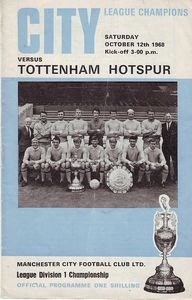 tottenham home 1968 to 69 prog