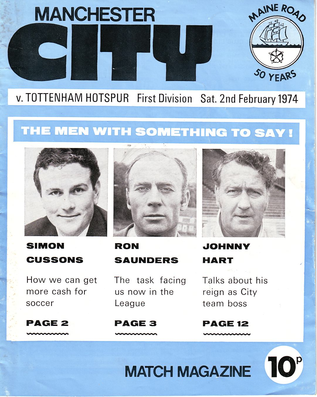 spurs home 1973 to 74 prog