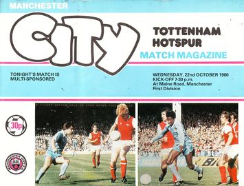 tottenham home 1980 to 81 prog