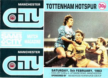 tottenham home 1982 to 83 prog