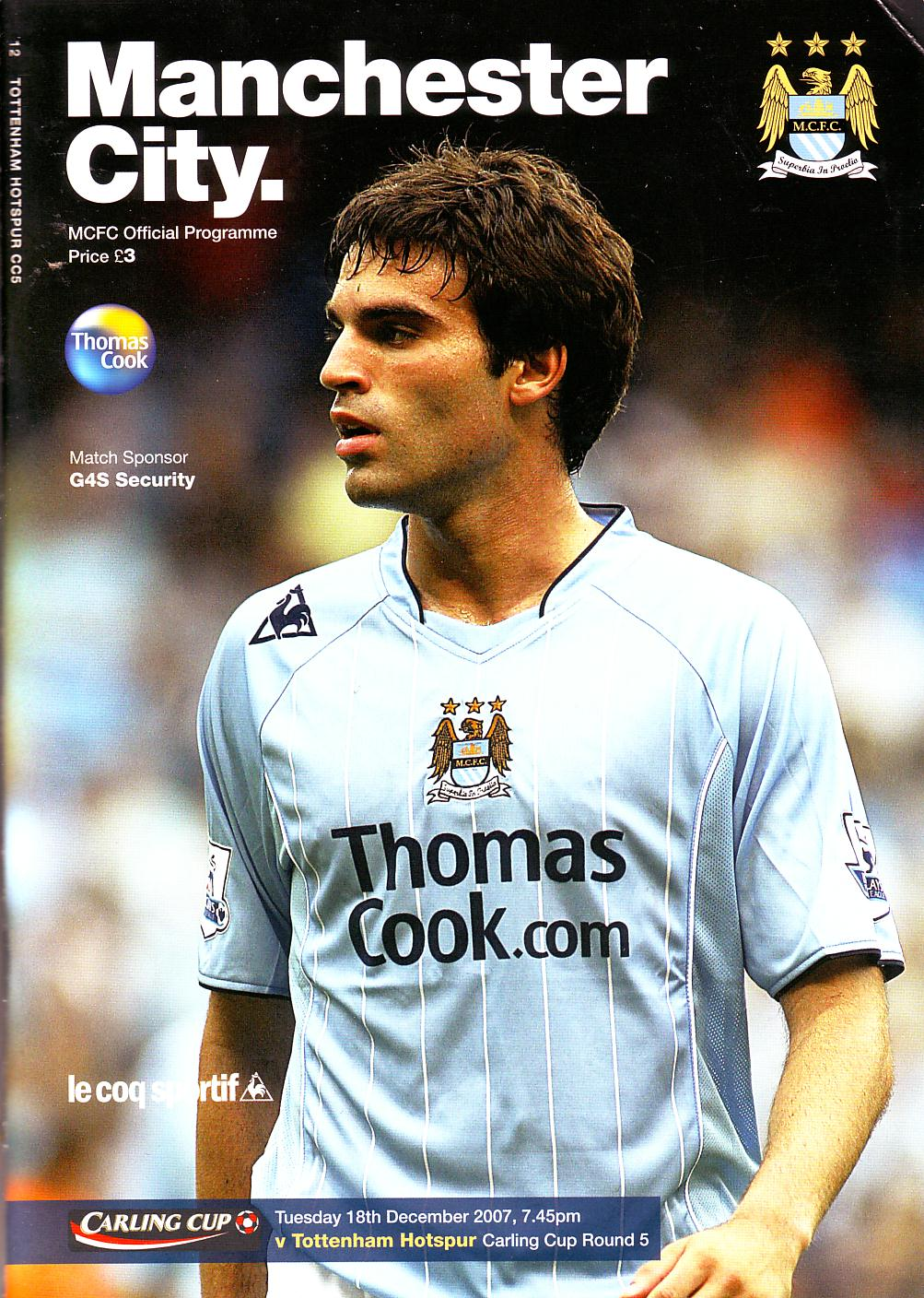 spurs home carling cup 07 to 08 prog