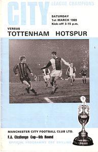 tottenham home fa cup 1968 to 69 prog