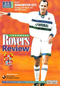 tranmere away 1996 to 97 prog