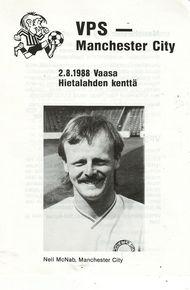 vaasan palloseura friendly 1988 to 89 prog