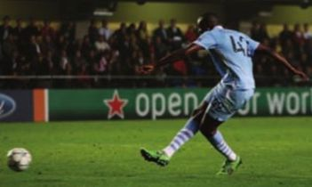 villereal away 2011 to 12 yaya 2nd goal