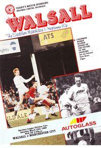 walsall away 1988 to 89 prog