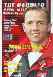 walsall away 1998 to 99 prog