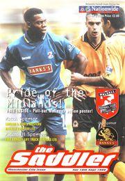 walsall away 1999 to 00 prog