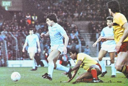 watford home fa cup 1985 to 86 action